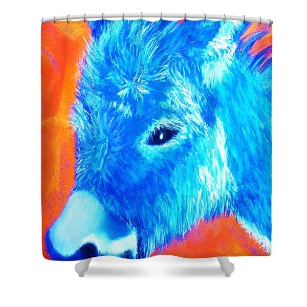 Blue Burrito Shower Curtain