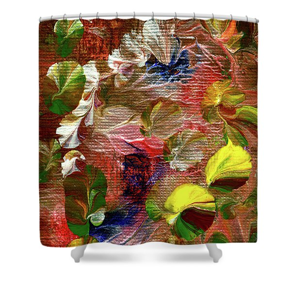 Blue Butterfly Jungle Shower Curtain