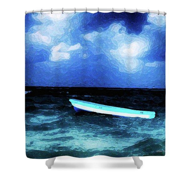 Blue Cancun Shower Curtain