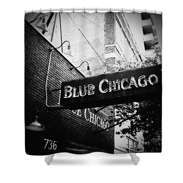 Blue Chicago Nightclub Shower Curtain