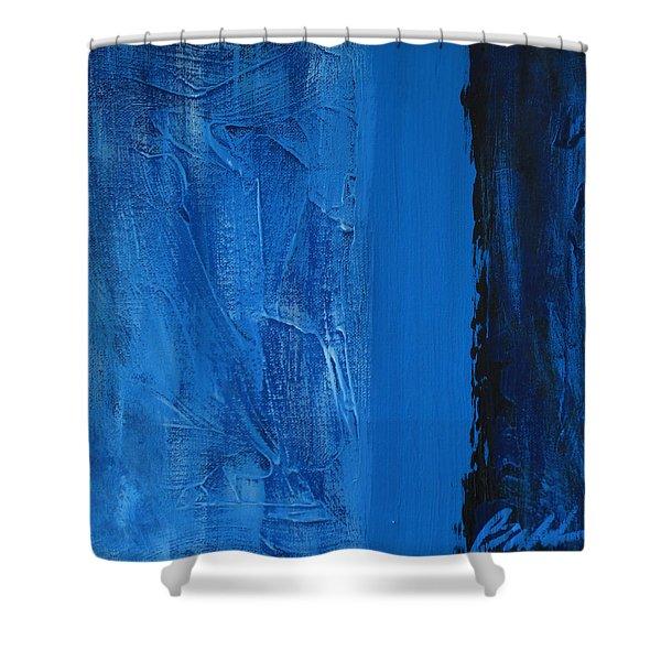 Blue Collar Shower Curtain