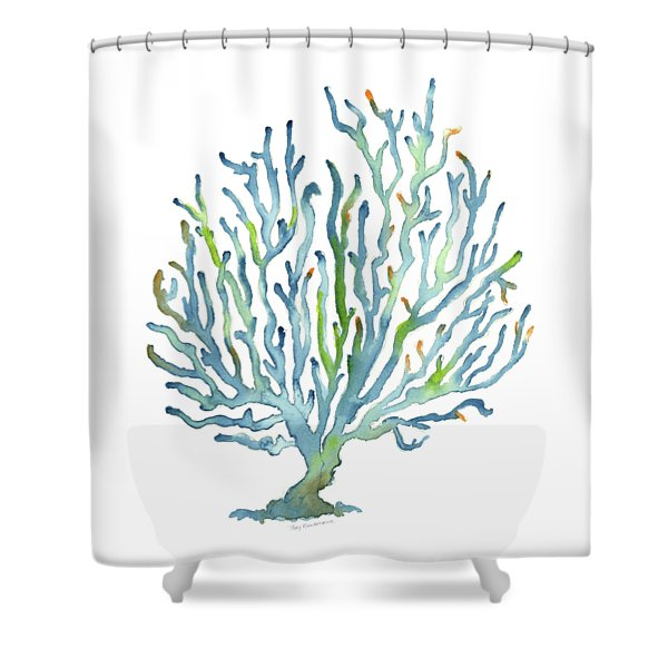 Blue Coral Shower Curtain