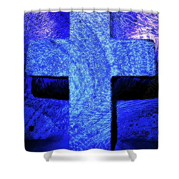 Blue Cross Of Zipaquira Shower Curtain