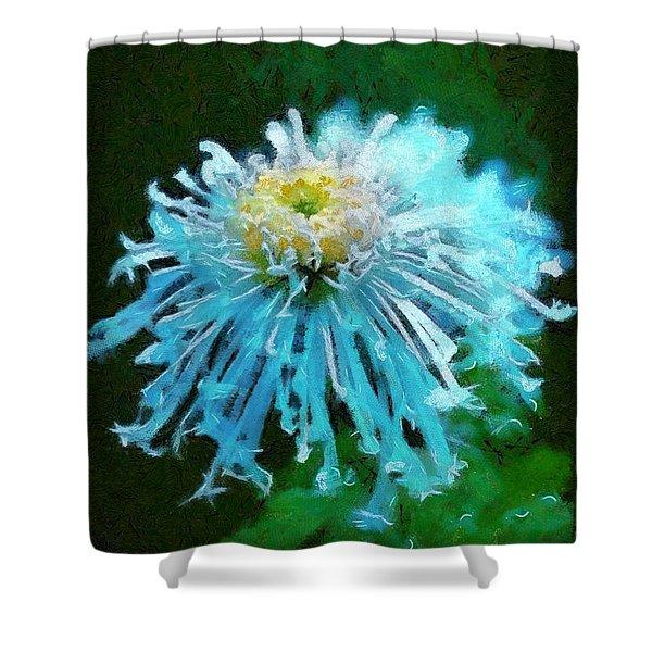 Blue Dahlia Shower Curtain