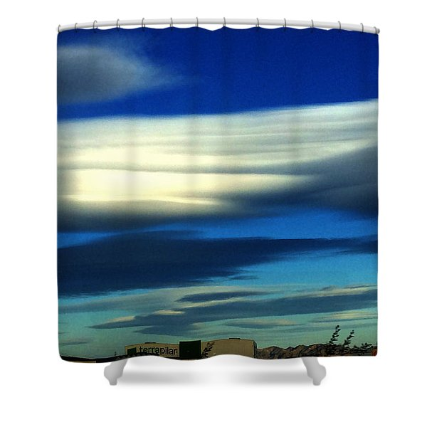 Blue Day Spain  Shower Curtain