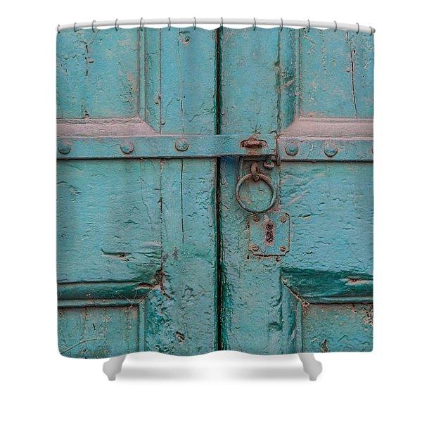 Blue Door Of Cortona Shower Curtain