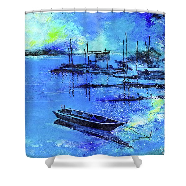 Blue Dream 2 Shower Curtain