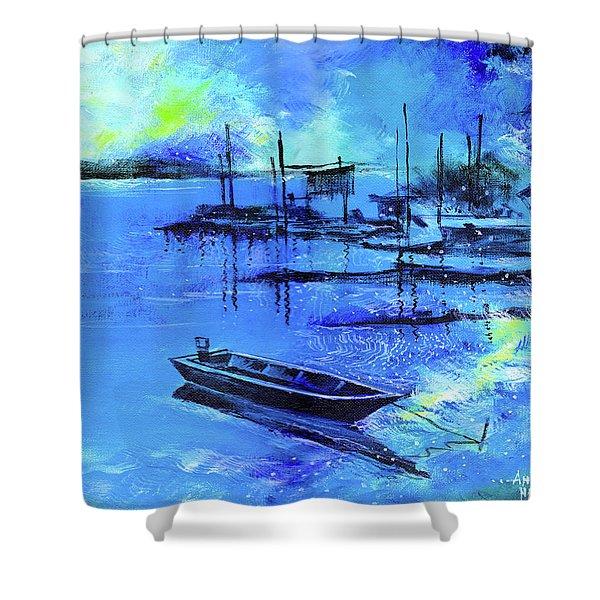 Blue Dream 2 Shower Curtain
