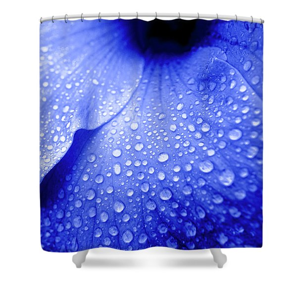 Blue Droplets Shower Curtain