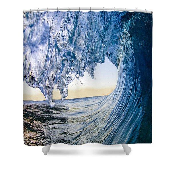 Blue Envelope - Vertical Shower Curtain