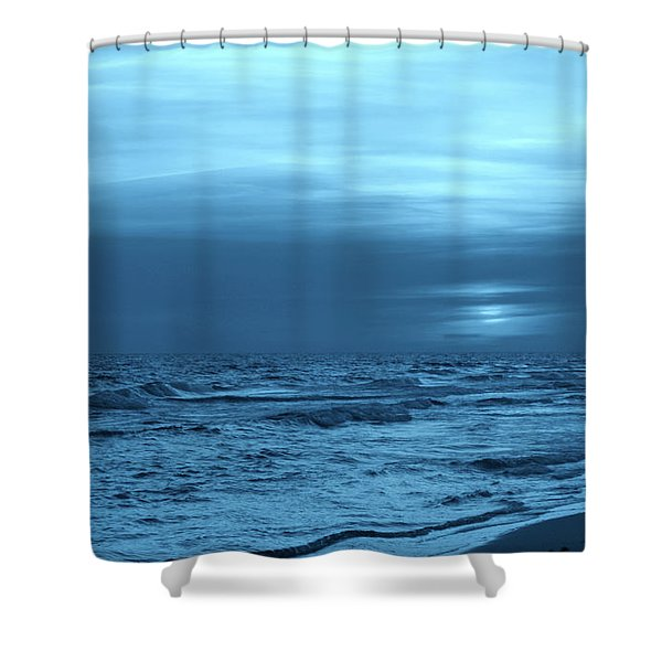 Blue Evening Shower Curtain by Sandy Keeton