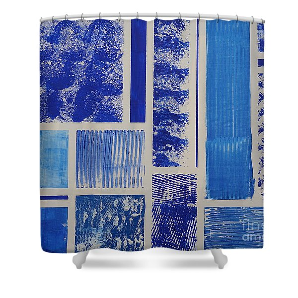 Blue Expo Shower Curtain