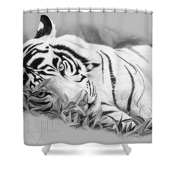 Blue Eyes - Black And White Shower Curtain