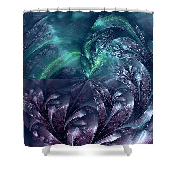 Blue Falls Shower Curtain