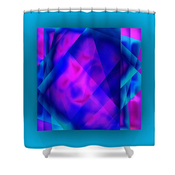 Shower Curtain featuring the digital art Blue Fashion by Mihaela Stancu