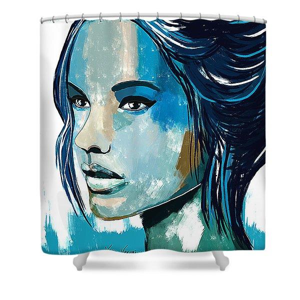 Blue Vervain Shower Curtains | Pixels