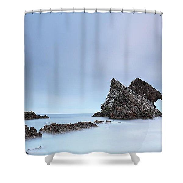 Blue Fiddle Shower Curtain
