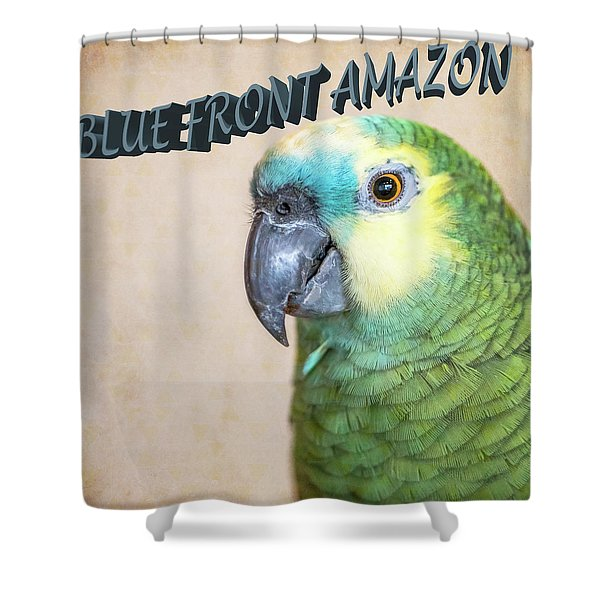 Blue Front Amazon Shower Curtain