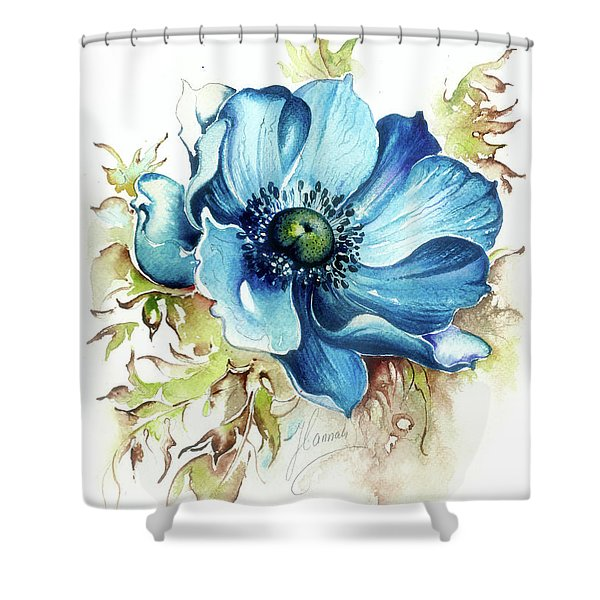 Blue Gem Shower Curtain