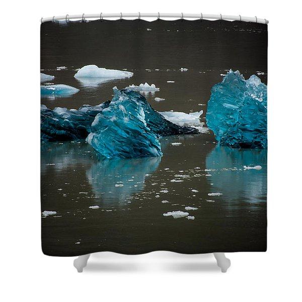 Blue Gems Shower Curtain