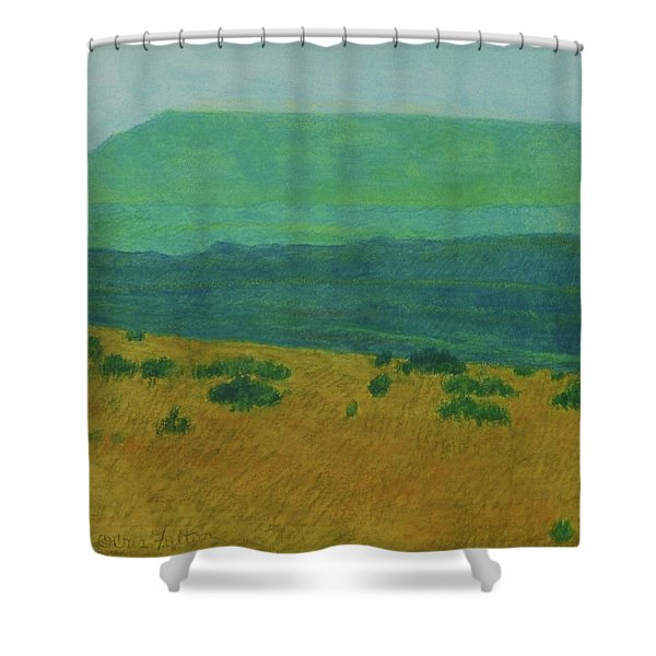 Shower Curtain featuring the painting Blue-green Dakota Dream, 1 by Cris Fulton