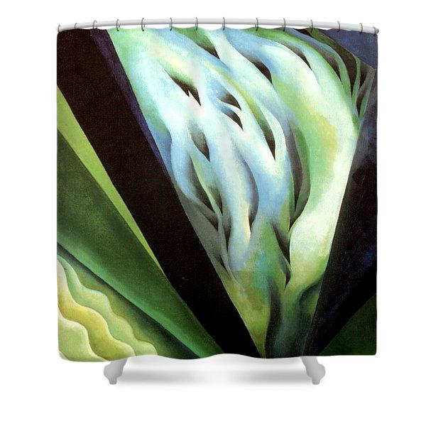 Blue Green Music Shower Curtain