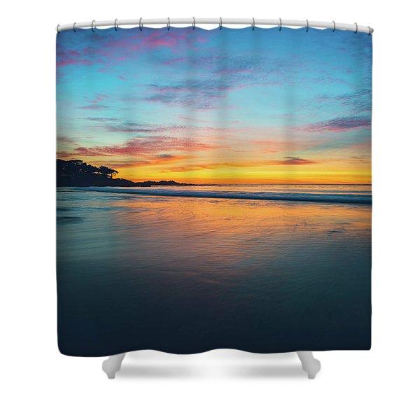 Blue Hour At Carmel, Ca Beach Shower Curtain