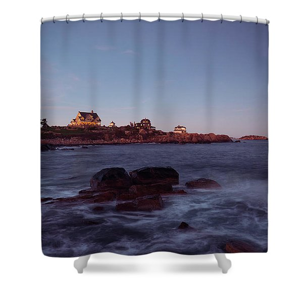Blue Hour In Gloucester Shower Curtain