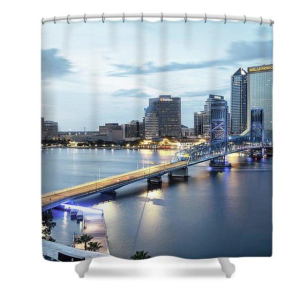 Blue Hour In Jacksonville Shower Curtain