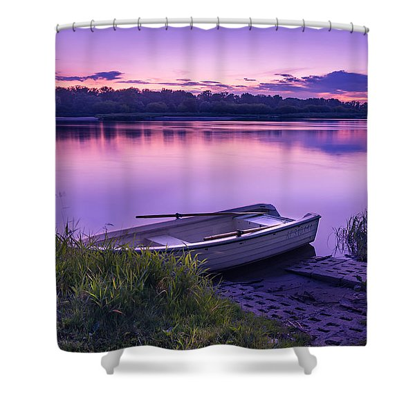 Blue Hour On The Vistula River Shower Curtain