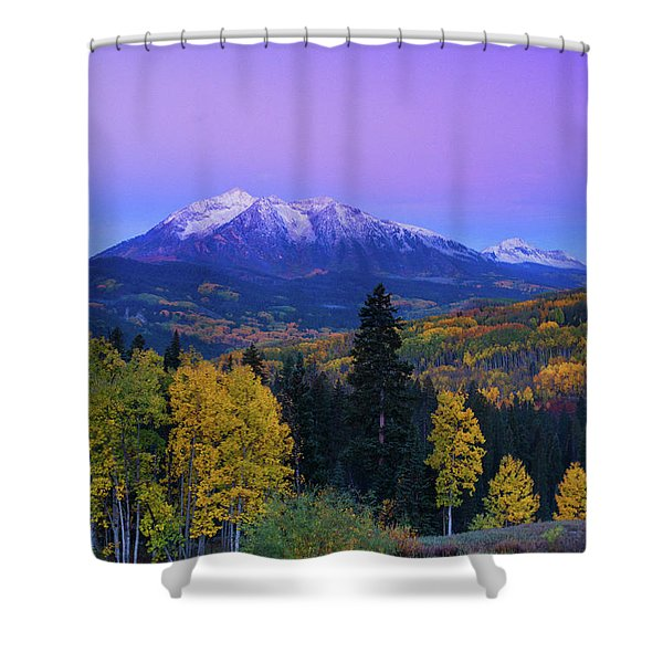 Blue Hour Over East Beckwith Shower Curtain