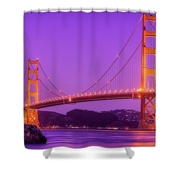 Golden Gate Bridge In The Blue Hour Shower Curtain