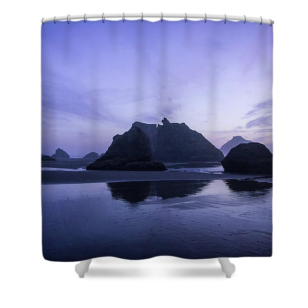 Blue Hour Reflections Shower Curtain