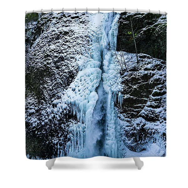 Blue Ice And Water Shower Curtain