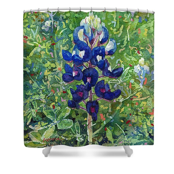 Blue In Bloom 2 Shower Curtain