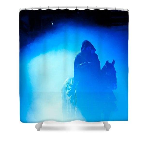 Blue Knight Shower Curtain