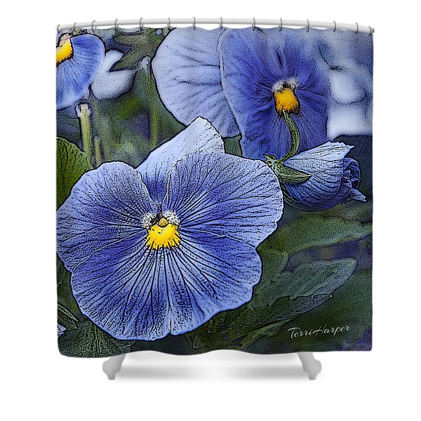 Blue Ladies Shower Curtain