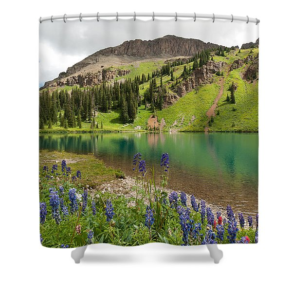 Blue Lakes Summer Splendor Shower Curtain