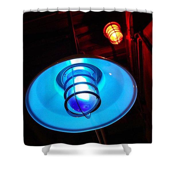 Blue Light Special Shower Curtain