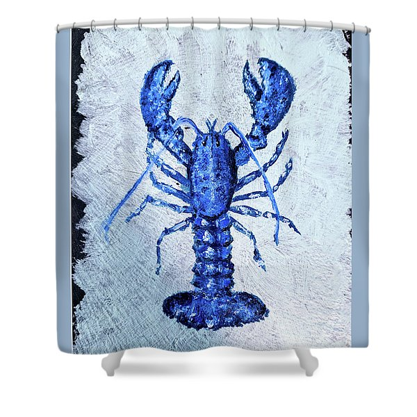 Blue Lobster 1 Shower Curtain