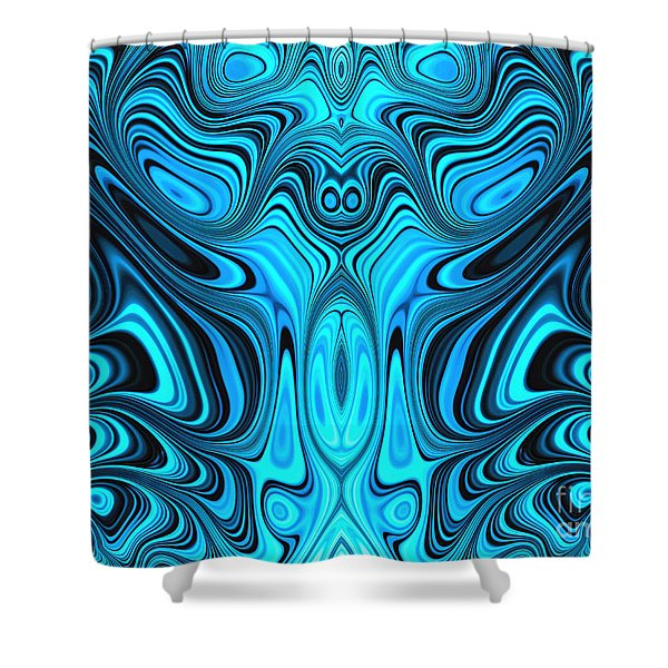Blue Mekon Shower Curtain
