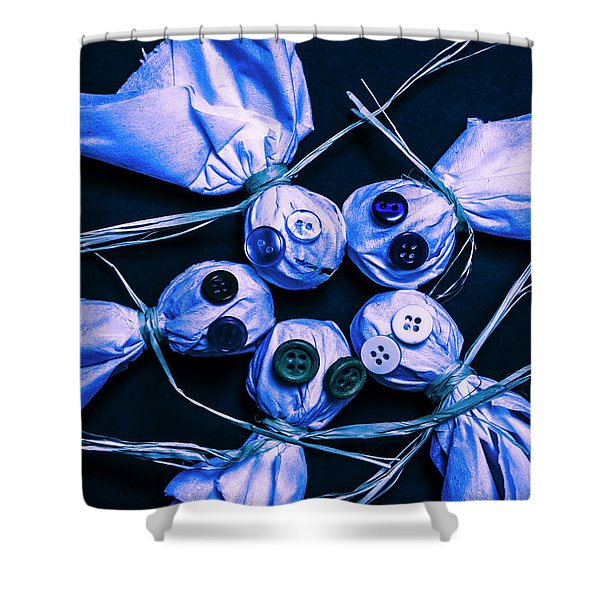 Blue Moon Halloween Scarecrows Shower Curtain