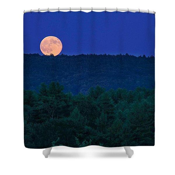Shower Curtain featuring the photograph Blue Moon by Sven Kielhorn