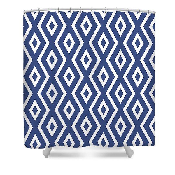 Blue Pattern Shower Curtain