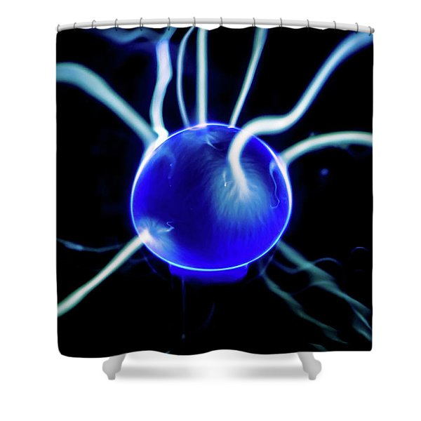Blue Plasma Shower Curtain