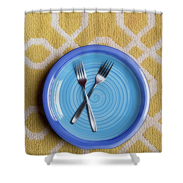 Blue Plate Special Shower Curtain