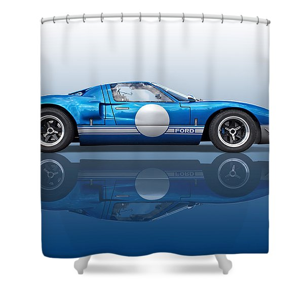 Blue Reflections - Ford Gt40 Shower Curtain