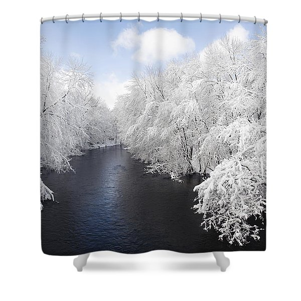 Blue Ribbon River Shower Curtain