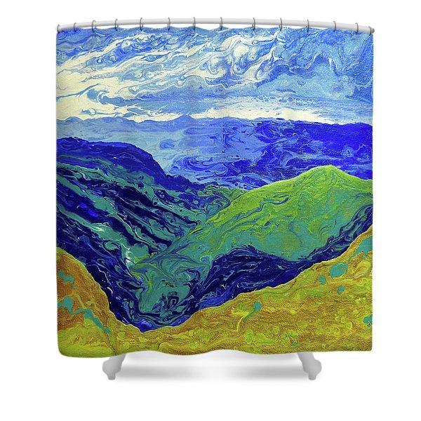 Blue Ridge Cloud Shadows 1.0 Shower Curtain