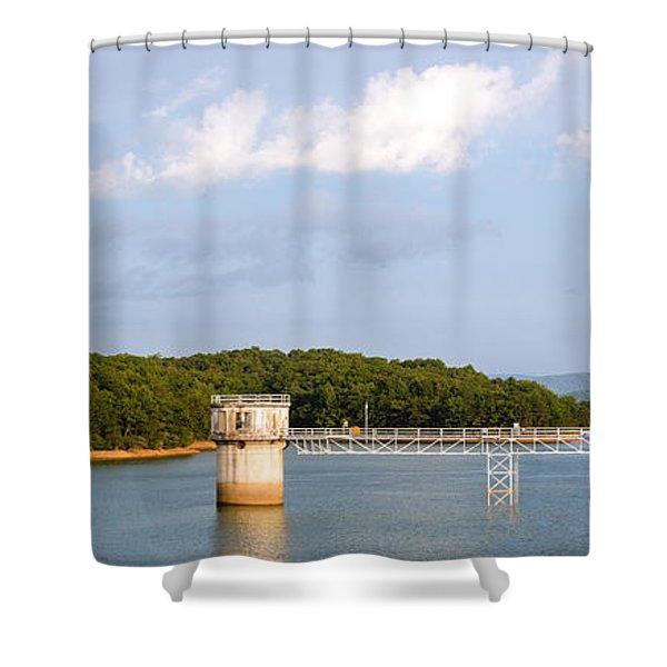 Blue Ridge Dam Shower Curtain